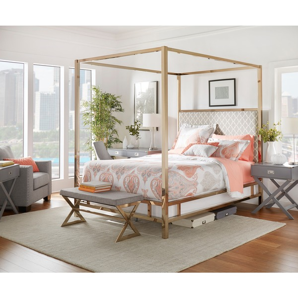 champagne gold bed