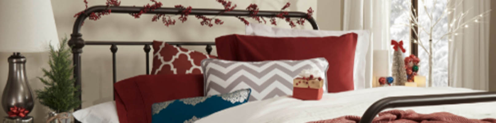 iNSPIRE Q holiday Bedroom decor showcasing headboard