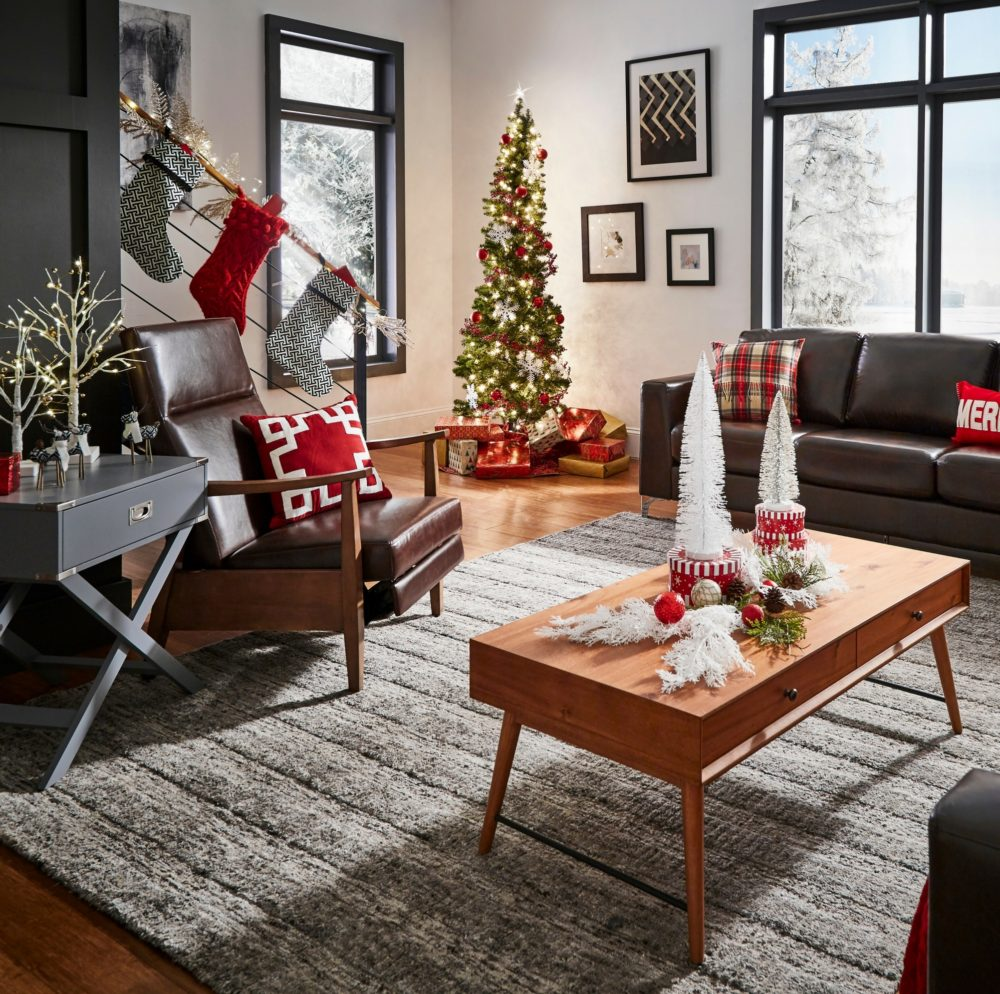 modern christmas loft overview