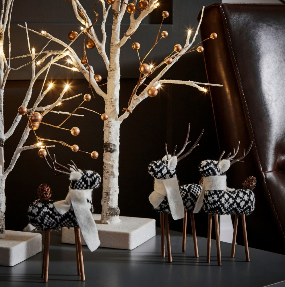 decorative figurines on top of end table iNSPIRE Q modern christmas loft
