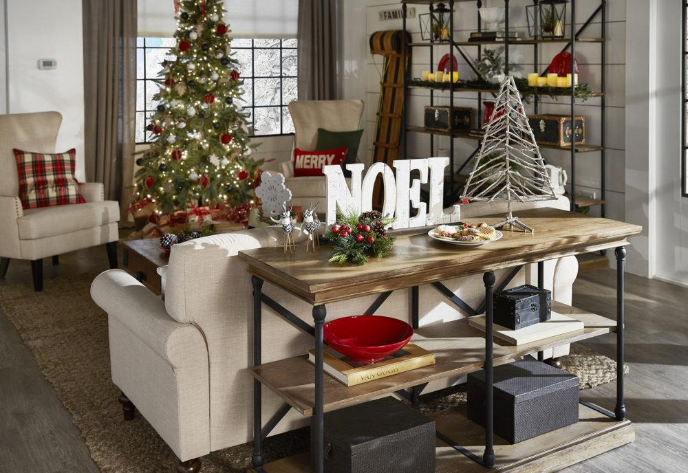 iNSPIRE Q Farmhouse Holiday Decor-- Christmas Tree with presents