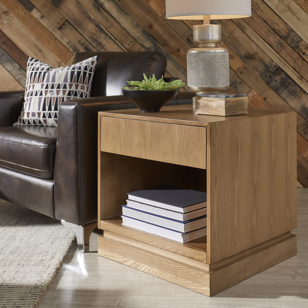 iNSPIRE Q wood block end table