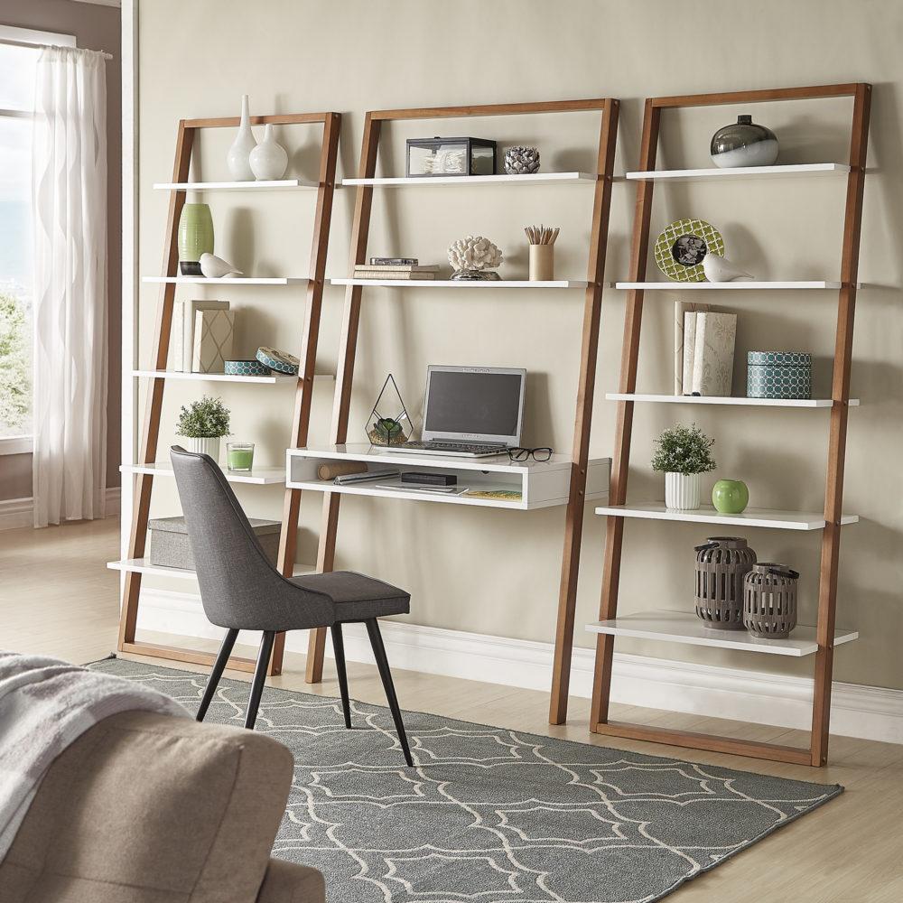 iNSPIRE Q Modern Leaning Shelf Desk
