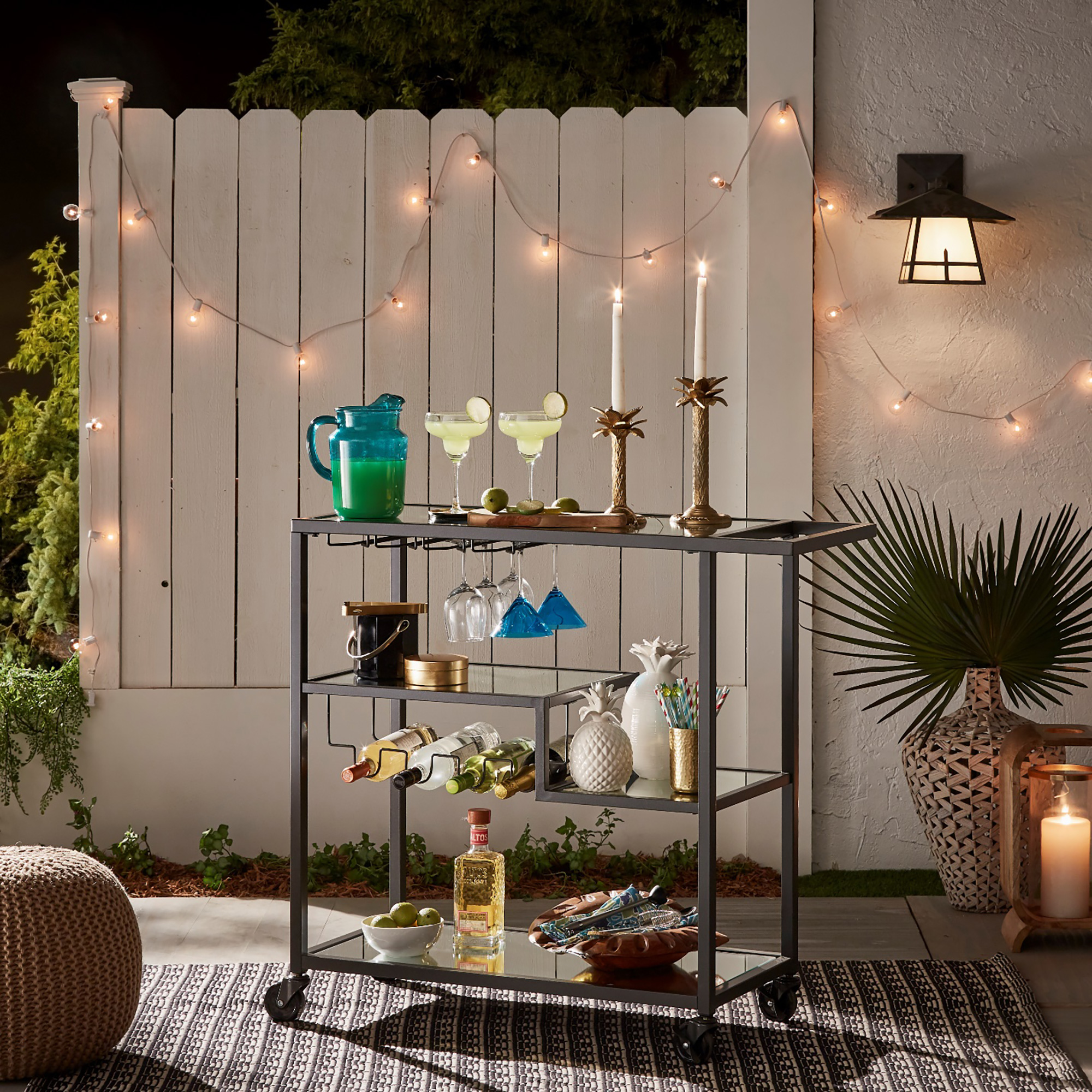 Summer Bar Cart Hack