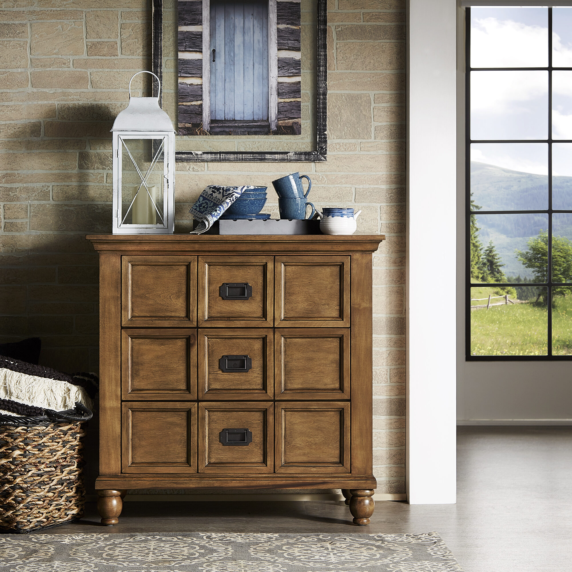 Apothecary cabinets can easily be overlooked but they offer great storage options for small spaces. This is our Whitney 3-Drawer Antique Apothecary Chest by iNSPIRE Q Classic Classic.